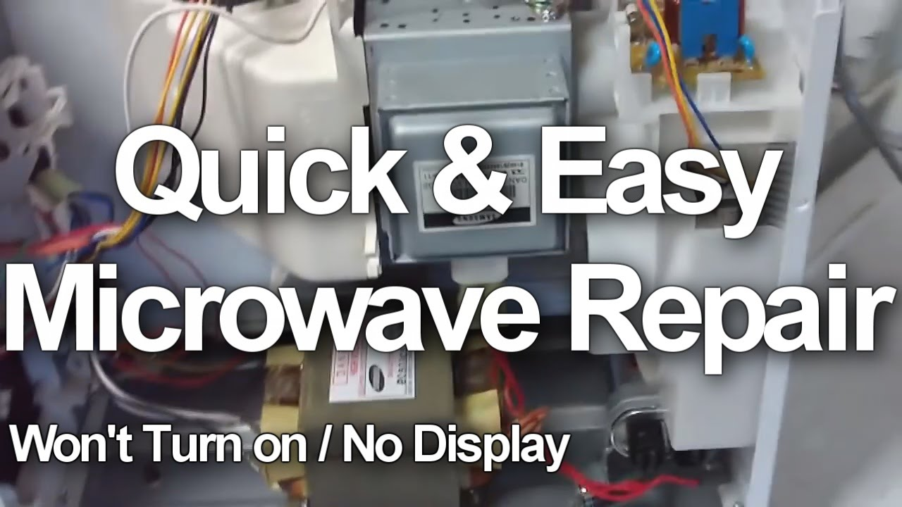 how to fix a microwave oven that will