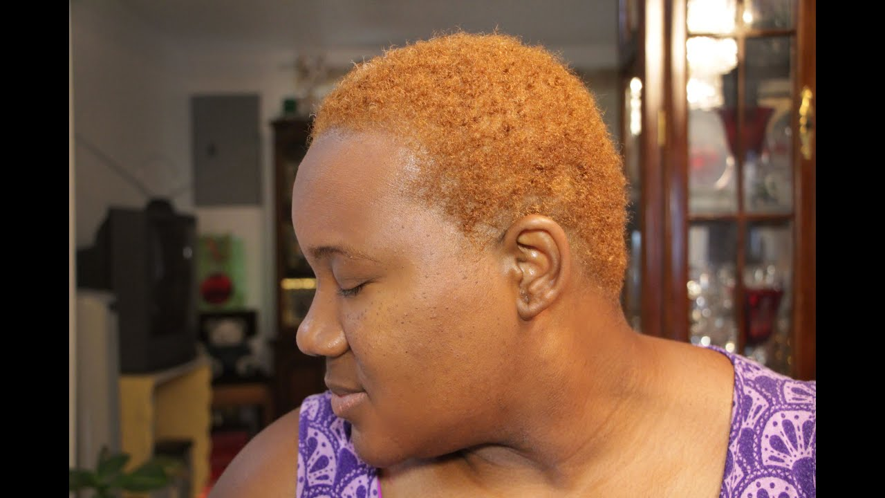 Dying Natural Hair Blond No Bleach Youtube