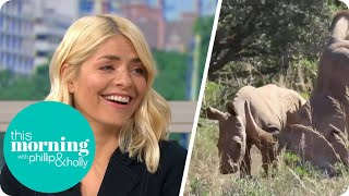 Holly Gets A Special Surprise From South Africa  This Morning