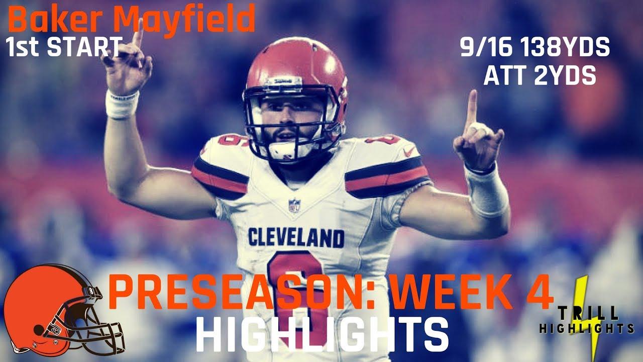NFL Week 4 preseason scores, updates: Mayfield looks sharp, McCarron leads ...