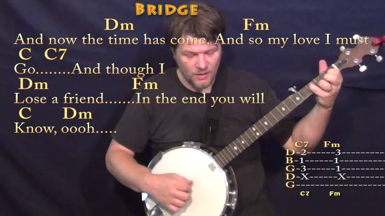 Ill Follow The Sun Beatles Banjo Cover Lesson With Chordslyrics