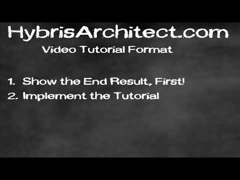 Hybris Architect Video Tutorial Format