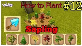 How to Plant Sapling | Mini World : Block Art