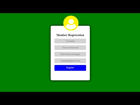 Web Registration Page Using HTML And CSS Only #code_with_willx #coding #cliply