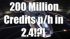Elite: Dangerous - 200 Million Credit p/h in 2.4?! - read description