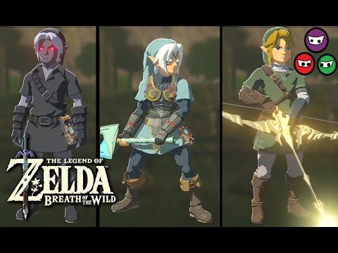 Zelda Breath of the Wild | All Armors | Amiibo Armors & Swords | Fierce Deity & Skyward Sword
