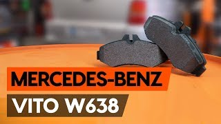 Πώς αλλαζω Τακάκια Φρένων MERCEDES-BENZ VITO Bus (638) - δωρεάν διαδικτυακό βίντεο
