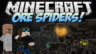 Minecraft | ORE SPIDERS! (Can You Fight & Claim the Riches?!) | Mod Showcase
