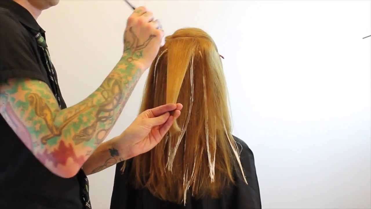 Balayage - how to balayage hair - hair color technique featuring Brian Haire freesaloneducation.com