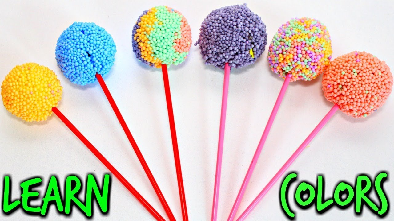 Learn Colors with Surprise Toys Lollipops Candy | Finger Nursery Rhymes for Children
