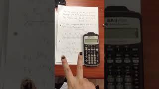 FIN3701 Corporate Finance: using financial calculator example