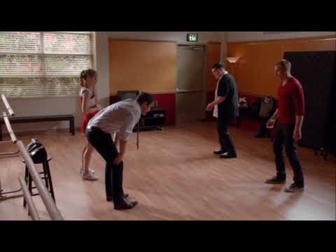 Spencer and Roderick learn dancing and Spencer hurts his foot  Glee