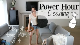 Speed Cleaning Power Hour - Stay At Home Mom Cleaning Routine ♡ NaturallyThriftyMom
