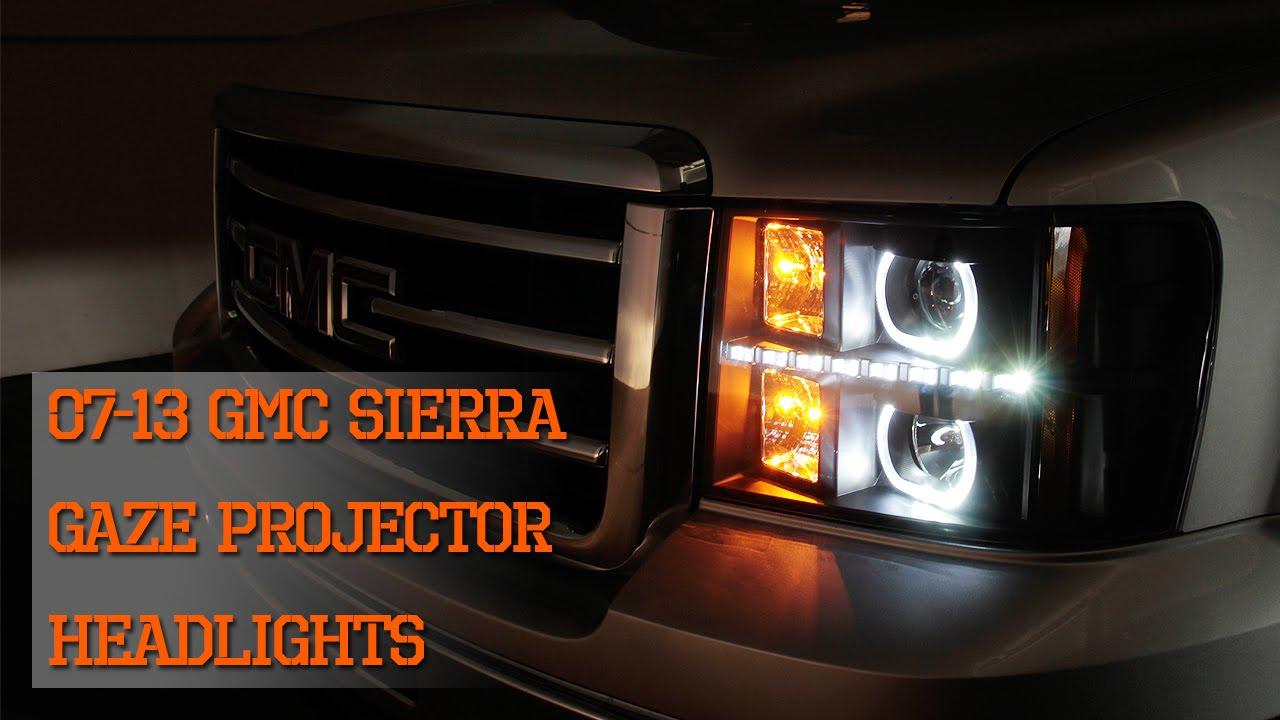 07 13 Gmc Sierra Gaze Halo Projector Smd Drl Led