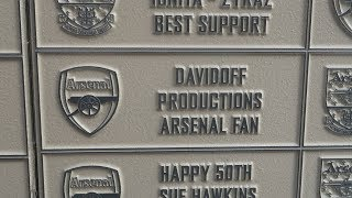 My Name is Engraved at Emirates Stadium!!!