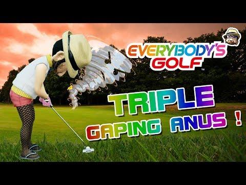 EVERYBODY'S GOLF (PS4) - Triple Gaping Anus !