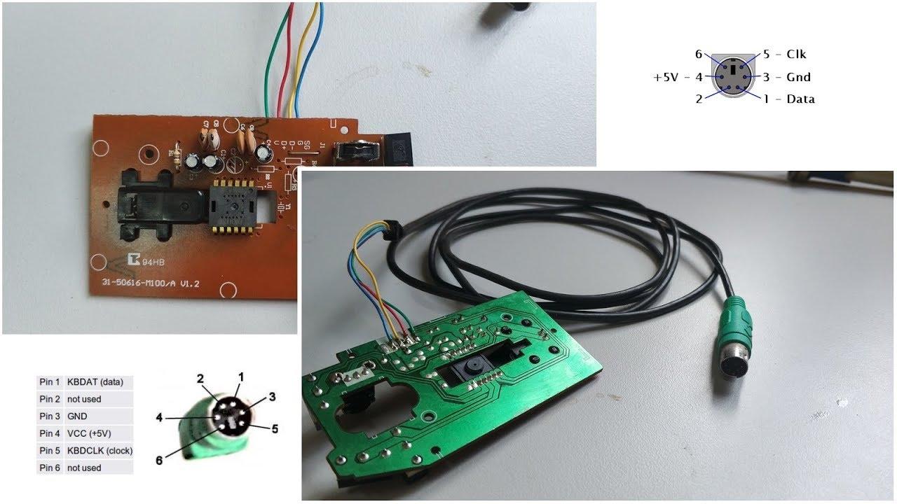 posi o do fio do mouse ps2 positivo ms55 para solda [ 1280 x 720 Pixel ]
