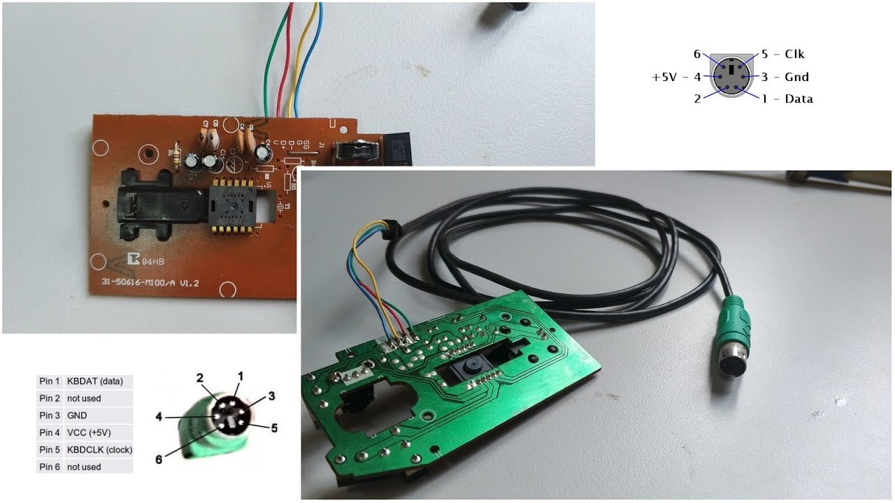 medium resolution of posi o do fio do mouse ps2 positivo ms55 para solda