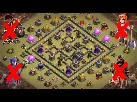 Best TH9 War Base | Defense against TH10 Mass Drag; TH9 GoValk, LavaLoon, GoVaWitch, GoBoHo, GoWiPe