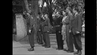 Siegesparade der US-Streitkräfte am 09. Mai 1945 in Siegen/Westf.