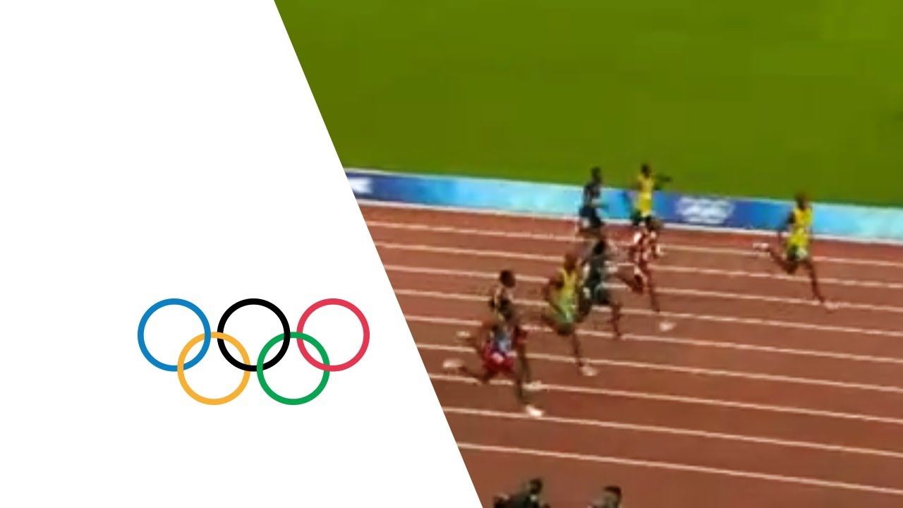 Usain Bolt Breaks 100m World Record In 9.69 Seconds Beijing 2008 Olympics