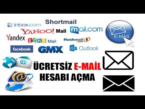 Ücretsiz E-mail (e-posta) Hesabı Açma