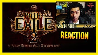 Path Of Exile 2 Trailer Reaction! DRUID? New Engine? 7 NEW ACTS!