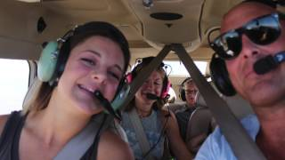 Flying along in the Cessna 206