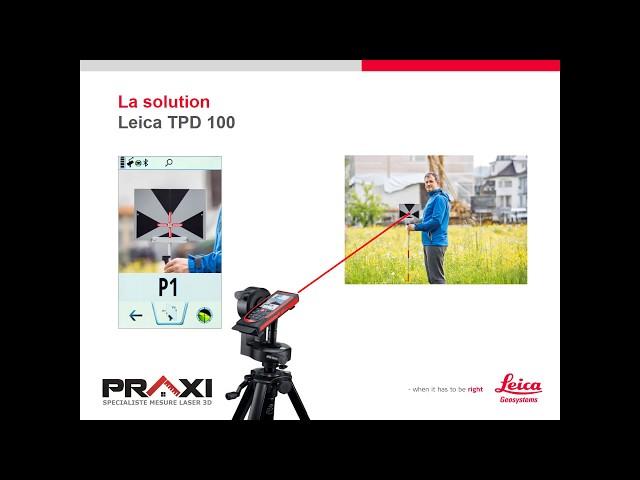 Leica DISTO S910 - Cible Leica TPD 100