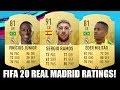 FIFA 20 REAL MADRID PLAYER RATINGS PREDICTION - FT. VINICIUS, MODRIC, MILITAO
