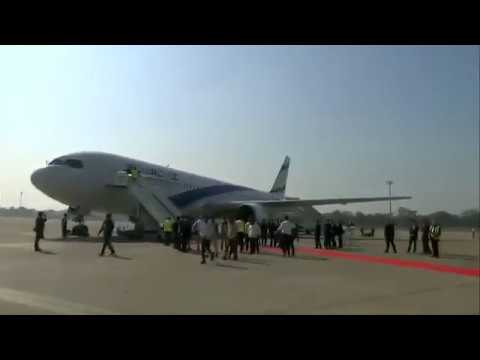 PM Narendra Modi receives Israeli PM Netanyahu at Ahmedabad Airport, Gujarat