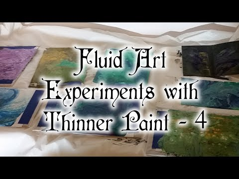 010 Fluid Art Experiments With Thinner Paint - 4