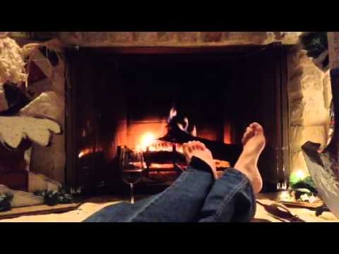Fireplace and feet - YouTube