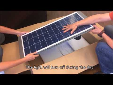 Earthtech Products Ultra High Powered LED Solar Streetlight - Unboxing