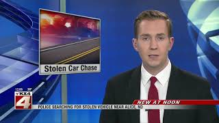 News   Search underway in western Cass County for car thief
