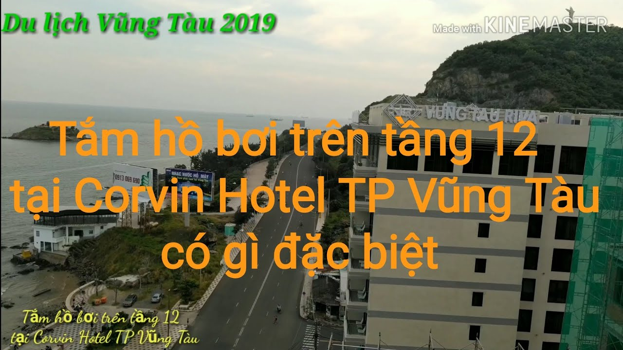Tắm hồ bơi trên tầng 12 tại Corvin Hotel TP Vũng Tàu có gì đặc biệt   Du lịch Vũng Tàu 2019