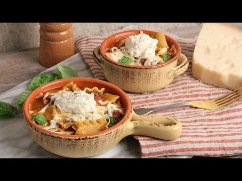 One Pot Lasagna Soup Laura In The Kitchen