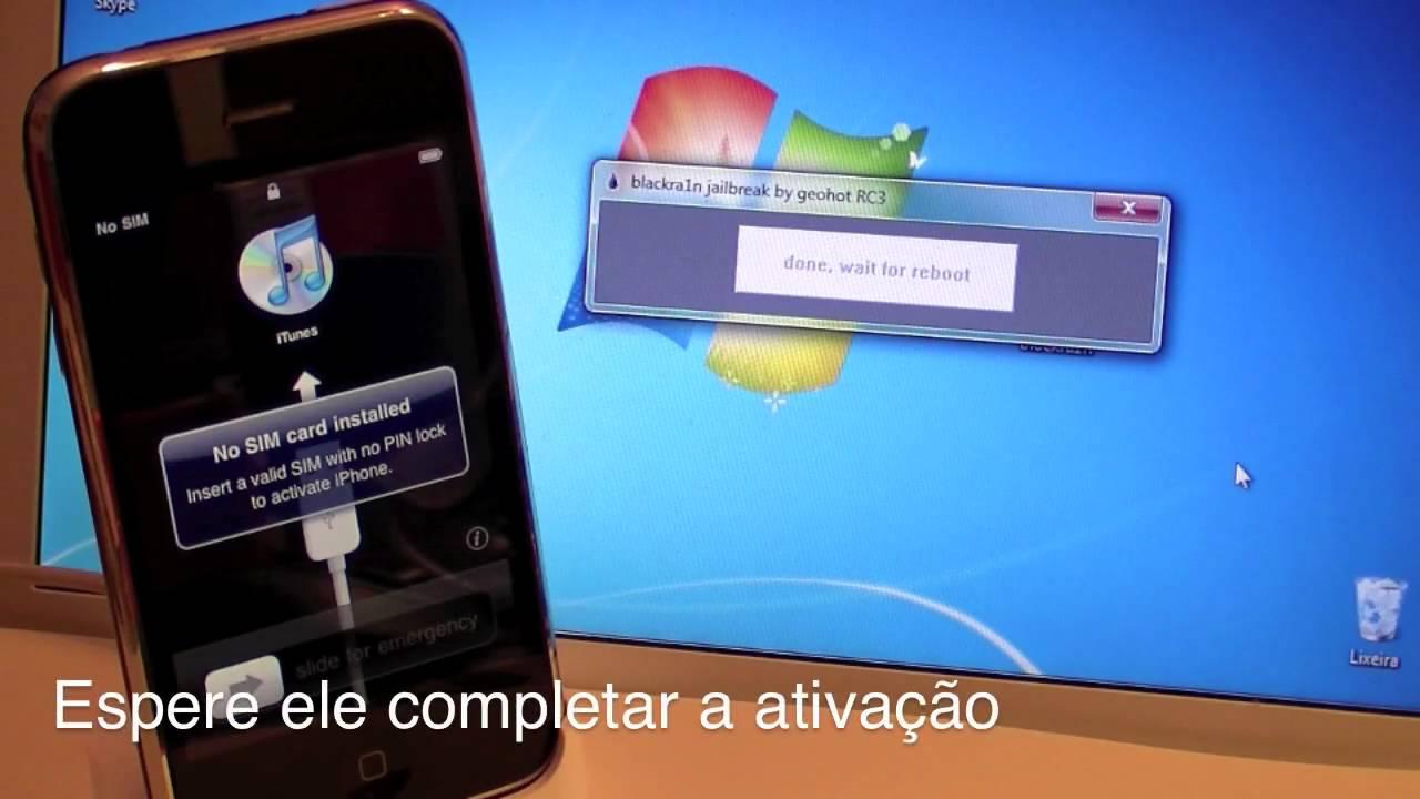 Desbloqueio do iPhone 3GS/3G pelo blacksn0w - OS 3 1 2