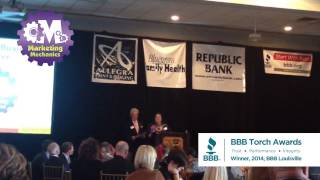 Winning BBB Torch Award for Marketplace Ethics