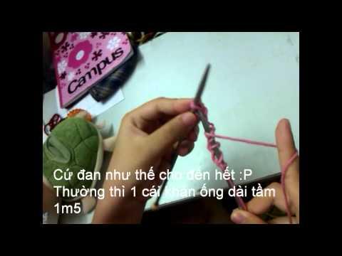 Cách đan khăn ống