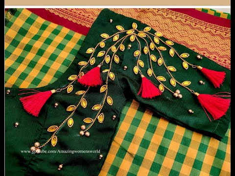 Very Grand U0026 Most Attractive Design With Normal Stitching Needle On Old Stitched/Ready Made Blouse