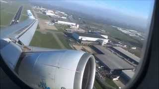 McDonnell Douglas MD-11 KLM Farewell Flight window view take off