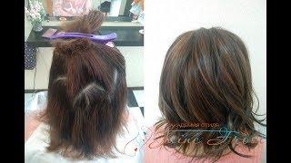 Окрашивание волос в технике Звезда | Работа с осветляющим кремом и аммиачным корректором