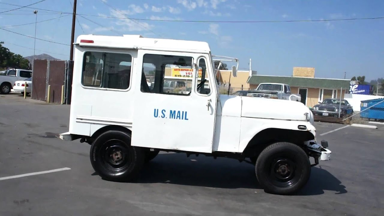 77 us mail postal jeep amc rhd nice rmd truck for sale youtube. Black Bedroom Furniture Sets. Home Design Ideas