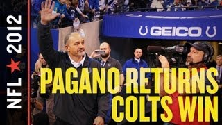 Colts vs Texans 2012: Indianapolis Knocks Houston From No. 1 Seed in Chuck Pagano's Return