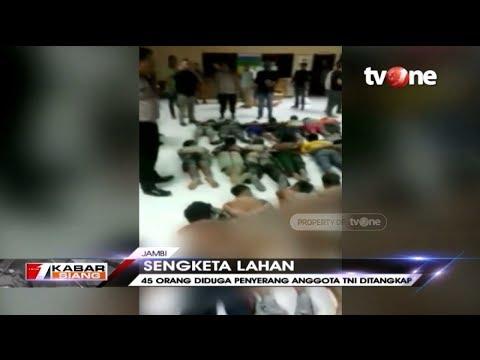 45 Orang Tersangka Penyerangan TNI di Jambi Diringkus Petugas