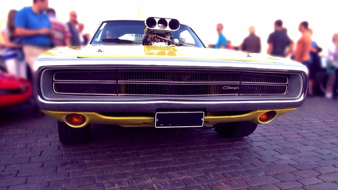 1970 Dodge Charger 500 Supercharged Loud Blower V8 Sound