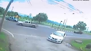 Horrible road accident.After accident the driver spot death and an unidentified shadow seen.