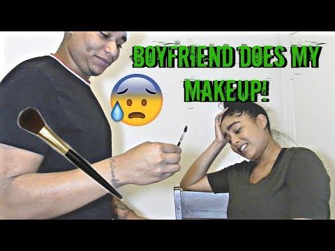 Boyfriend Does my Makeup!!