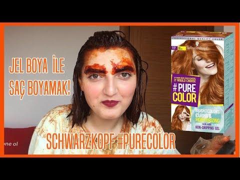JEL BOYA İLE SAÇ BOYAMAK! l Schwarzkopf Pure Color Saç Boyası